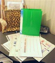 Тонкая зеленая папка