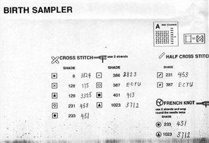 birth sampler key
