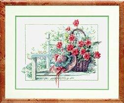 Garden seat with flower basket - lanarte