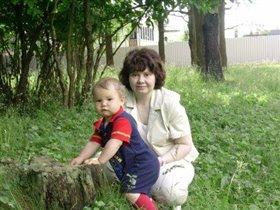 Филипп с тетей Олей