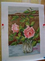 Роза в стакане
