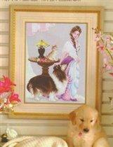 123 - Girl with dog (Pinn)
