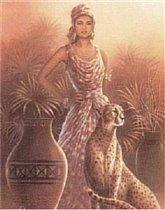 Африканка с ягуаром