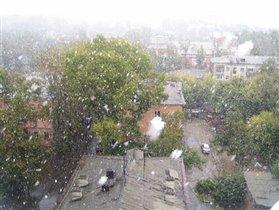 Снег уже...