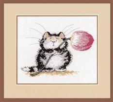 Кот с тюльпаном. CUL-PURR-IT (Herritage MSCP664)