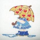 Девочка под зонтом