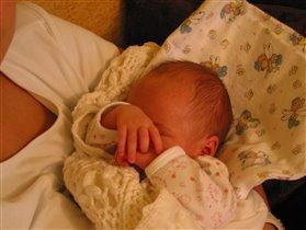 А вот так Аришка спит - сладенько!!!