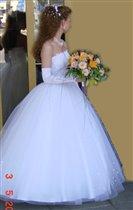 Платье свадебное белое р.42-44