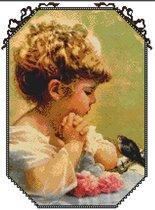 Девочка с птичкой