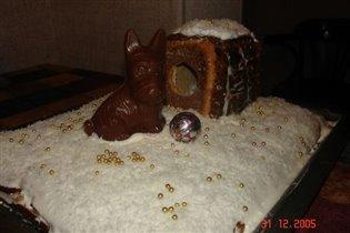 Вот такой торт на Год Собаки!:)