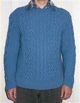 Мужской свитер аранами