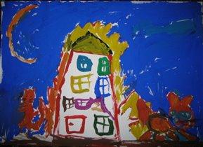 Наши рисунки, Даша,3,5-4 года. Гуашь