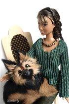 Девушка с собакой ... вечер на даче
