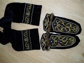 Шарф и рукавицы