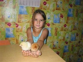 КУзя и Маня - наши цыплята:)