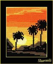 Заход солнца - Пальмы