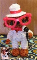 Мишка Элтон Джон  в стиле японских анимэ игрушек