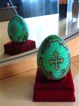 Бисерное яйцо ' Зелёное'