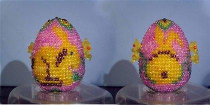 Бисерное яйцо ' Зайчик '