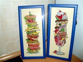 Гигантские сэндвич и десерт