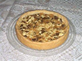 Луковый пирог с грибами...
