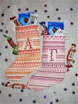 Новогодние сапожки для дочек