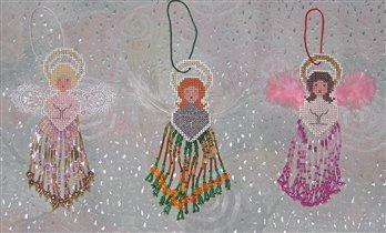 Бисерные украшения на ёлку - ангелочки