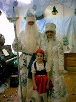 с Дедом Морозом (елка в детской студии)