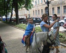 Я люблю свою лошадку.
