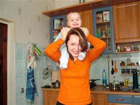 с мамой:)