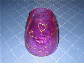 Розовая вазочка