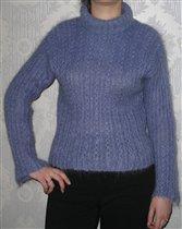 Фиолетовый мохеровый свитер