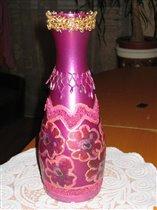 Бывшая бутылка из под вина:))