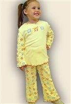 Пижама для девочки (фуфайка+брюки пиж.)