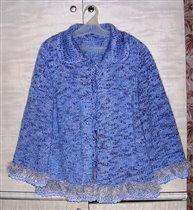 Голубая кофта (фасонная пряжа)