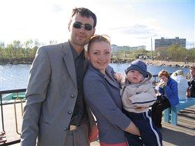 Даня с папой и мамой