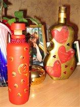 Бутылочка с бусинками