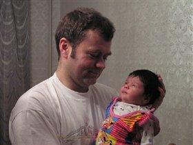 Дочка с любимым папочкой.