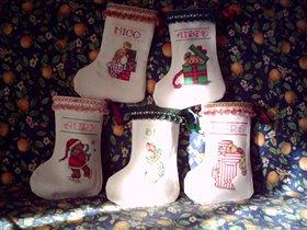 Новогодние мини-носочки