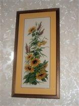 Подсолнухи - на конкурс 'Я цветочки вышивала'