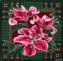 Подушка с лилиями Риолис 656