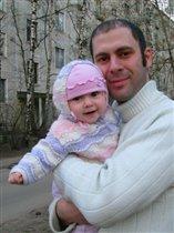 Любим папу и гулять!