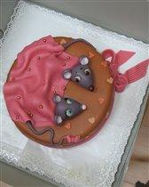 Вот такой был нам подарен торт