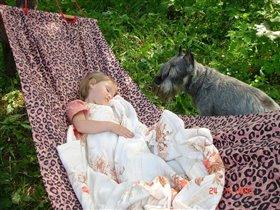 'Ну, вроде уснула, пойду и сам подремлю!' :)