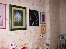 Вот такая у нас теперь маленькая галерея дома