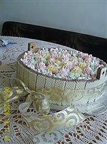 Торт 'Ведро с цветами'