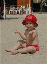 Лиска на пляже