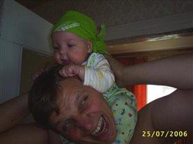 Папа, я крепко держусь!!!