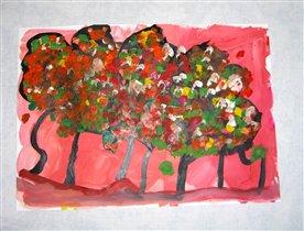 3г8м_деревья осенью