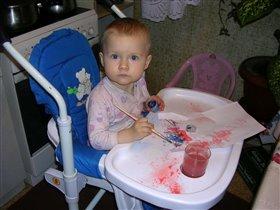 Юный художник :)
